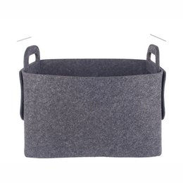 Wholesale customizable clothing resale online - Felt Storage Basket Dirty Clothes Storage Baskets Black Customizable Home Furnishing Sundries Store Bags New Arrival lk L1