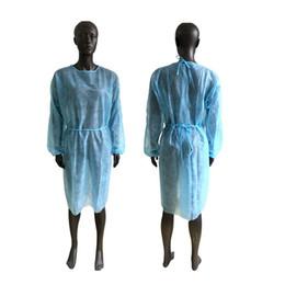 Non-tissé Vêtements de protection à usage unique Isolation Robes Vêtements Suits extérieur anti-poussière jetables Imperméables Sea Shipping ZZA en Solde