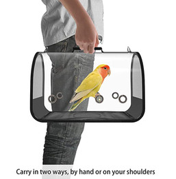 Wholesale Lightweight Bird Carrier transparent and Breathable foldable Sightseeing Outdoor Bird Travel Backpack Suitable for Parrot and Other Birds