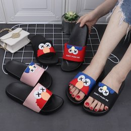 eiffel tower canvas prints 2021 - Summer Winter Ladies Slippers Home Cartoon Sesame Street Eiffel Tower Women Indoor Outdoor Beach Flat Slippers for Women