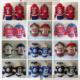 vans capuz  venda por atacado-Montreal Canadiens Hockey Hoodie Jerseys Carey Preço Brendan Gallagher Shea Weber Darryl Sittler Joffrey Lupul James Van Riemsyk