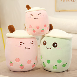 real-life boba plush stuffed food bubble strawberry pineapple soft doll milk tea cup kids toy birthday gift Q1219 on Sale