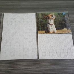 A5 A4 Sublimación en blanco Puzzle Jigsaw 120pcs / 80pcs / 75pcs Presión de calor Transferencia térmica Artesanías DIY Puzzles blancos para sublimación Foto H11905 en venta