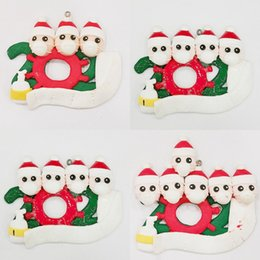 Wholesale names people online – design 2020 Household Christmases Series Pendant Two To Six People Christmas Tree Small Ornament DIY Full Name Blessing Words hya J2