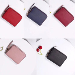 woman holding clutch bag Australia - Leather Classic Clutch Wallet For Women Fashion Short Bag Money Coin Zipper Lady Pouch Card Pocket Note Purse Hold Scffd