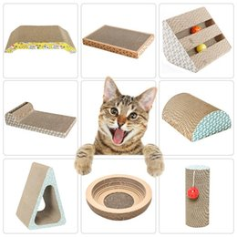 cardboard pads 2020 - Corrugated Cat Scratch Board Pad Grinding Nails Interactive Protecting Furniture Cat Toy Large Size Scratcher Toy Cardbo