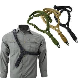 Großhandel Reine Farbe Nylon Strap Seil Weave Einstellbare Tarnung Taktische Schlinge Outdoor Sport Zubehör Kabel Multi Function Durable 11 5SNA N2