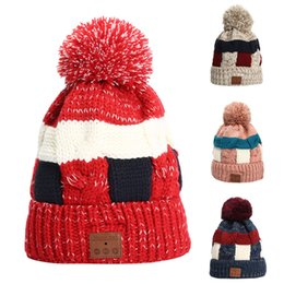 bluetooth beanies Australia - Christmas Wireless Bluetooth Beanie Hat Detachable Stereo Speakers Microphone Gorro Invierno Mujer Winter Cap