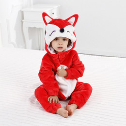 Wholesale halloween costume toddler for sale - Group buy Girls Jumpsuits Infant Clothes Boys Girls Animal Cosplay Rompers Toddler Carnival Halloween Outfits Boys Panda Costume For Baby C0126