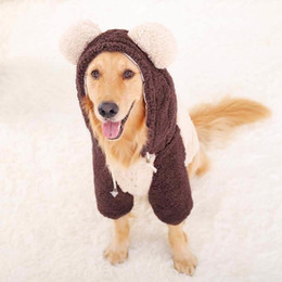 Discount gold dog clothes Big Dog Clothes For Golden Retriever Dogs Coat Large Size Autumn Winter Dogs Hoodie Pet Apparel Clothing For Dogs Costum