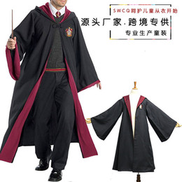 Discount cosplay harry potter cape Authentic Harry Potter dress magic robe school uniform Cape cosplay costume wizard