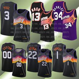 1 Devin 22 Deandre Steve Booker Nash Chris Ayton Paul PhoenixSóisHOMENSJerseys de basquete da NBA. em Promoção