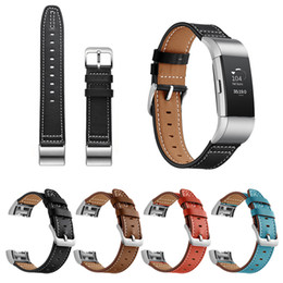 fitbit watches women UK - Design U Genuine Leather Bands For Fitbit Charge 2 Replacement Accessories Straps Wristbands Women Men Watch Band Strap
