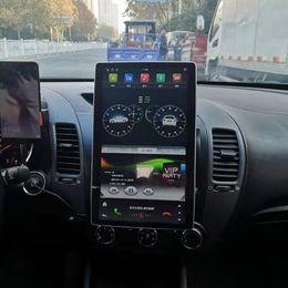 "Carplay DSP IPS Tesla Style 100 ° Schermo girevole PX6 2 DIN 12.8 ""Android 9.0 Universal Car DVD Stereo Radio GPS Bluetooth 5.0 WiFi in Offerta"