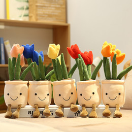 Flower Pot Curtain Tacks-Set of 4 Double Tulip Pots