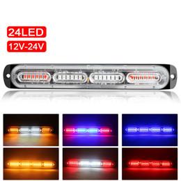 24 светодиодный автомобильный грузовик аварийный маяк света 12-24V автоматический мигающий боковой маркер батончики стробительные сигнальные огни универсальные на Распродаже