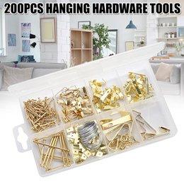 Qualité Large 2 broches en laiton photo toile crochets avec pins Framing Hanger