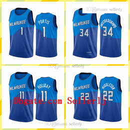 Wholesale white navy uniforms resale online - Men printMen Giannis Antetokounmpo Milwaukee Bucks Navy City New Uniform Jersey