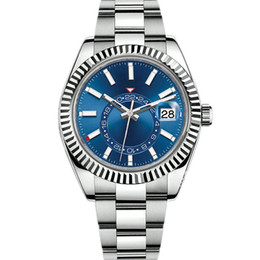 SKY Men Automatic Watch High Quality Automatic Mechanical Fashion 2813 movement Watches Stainless Steel 42mm Luminous Waterproof Wristwatch on Sale