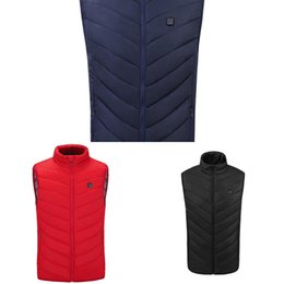 Wholesale heated jackets for sale - Group buy Electric Heated Vest Men Women Heating Waistcoat Thermal Warm Clothing Usb Heated Outdoor Vest Winter Heated Jacket Z1210
