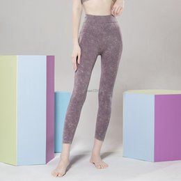 Wholesale leggings with pockets for sale – dress Breathable High Waist Yoga Pants with Pockets Stretch Leggings Workout Running Pant Seamless yoga sport pants will and sandy new