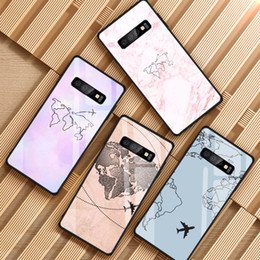 Wholesale plan phones resale online - World Map Travel Plans Tempered Glass Phone Case For Samsung Galaxy S8 S9 S10 S20 PLUS J6 J8 NOTE Cover Shell