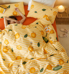 teen twin bedding sets Australia - Yellow orange bedding set teen child kid,cotton twin full queen king single double home textile bed sheet pillowcase duvet cover