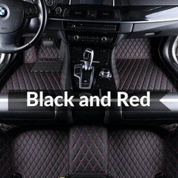 Wholesale Autocovers Custom Fit Car Floor Trunk Mat Specific Waterproof PU Leather ECO friendly Material For SUV Truck Full Set Car Mat 014