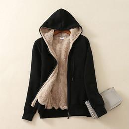 Wholesale women sherpa jackets for sale – custom Women Casual Winter Warm Sherpa Lined Hooded Autumn Jacket Coat Fleece Hoodie Sweatshirt Zip Up Sweter