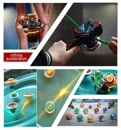beyblade battles toys UK - Gyro Infinity Nado 3 Stunt Set Toy Combination Transforming Split Arena Launcher Spinning Top Battle Set Kids Toys Beyblade Toy bbyANb