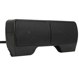 Wholesale 2pcs Wall-mounted Laptop External Speakers Black USB High-grade Speaker Units Deliver Clear Dynamic Audio US Stock Fast Shipping