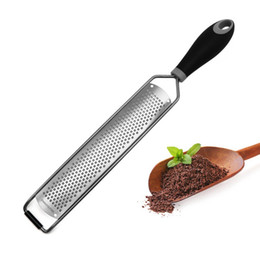 Wholesale Cheese Grater Cheese Lemon Ginger Garlic Nutmeg Chocolate Stainless Steel Cutter Grater Knife Kitchen Cooking Baking Tools HHA1683