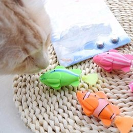 Discount battery toys wholesale Battery-Powered Fish, Cat Toy Cat Fish