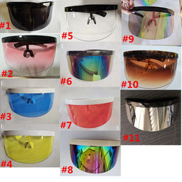 half mask red color 2021 - Face Sunglasses Fashion Mask Windproof HHA1540 Sun 11 Oversized Women Half Masks Mask Party Sunglasses 2020 Protection S