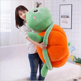 make home decor NZ - 35~100cm New Arrive Plush Toys Kawaii Tortoise Creative Pumpkin Dolls Kids Sleeping Pillow Cushion Birthday Festival Gifts Home Decors