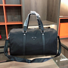 Wholesale Men Fashion Duffle Bag Triple Black Nylon Travel Bags Mens Top Handle Luggage Gentleman Business Work Tote with Shoulder Strap
