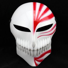Wholesale bleach ichigo kurosaki cosplay resale online - Death Ichigo Kurosaki Bleach Mask Christmas Dance Masquerade Party Cosplay Halloween Cool Mask