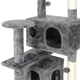 Wholesale cats towers resale online - 53 quot Cat Tree Activity Tower Pet Kitty Furniture with Scratching Posts Ladders