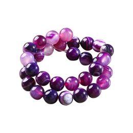 venda por atacado Bead de listra roxa para colar de cristal diy diy natural pedra manual jóias fazendo beads redondos ornamentos 19sy6 k2