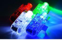 Toptan satış Parmak Işık Kutulu LED Aydınlık Oyuncaklar Gece Kulübü Konser Renkli Flaş Atmosferi Ayarlamak için Noel Partisi Malzemeleri