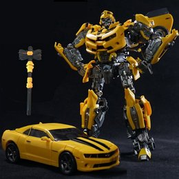 Wholesale movie bees for sale - Group buy Legendary Transformation LT LT01 LTS C Yellow Bee MPM03 MPM Alloy Movie Upgade KO Action Figure Robot Deformed Toys