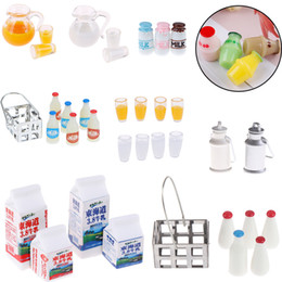 6pcs//Set Bottle Beer Miniatures For 1:12 Dollhouse Miniature Kids PlayTEHI
