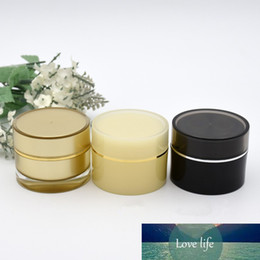 Discount acrylic 15g cosmetic jars Wholesale Empty Acrylic Jar Cream Container Jars Packing Empty Makeup Cosmetic Refillable Bottles 5G 10G 15G 20G 30G 50G