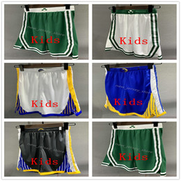 boys basketball pants 2021 - Top Quality ! Printed Kids Basketball Pocket Shorts Youth Sport Shorts College Pocket Pants White Black Yellow Red Blue