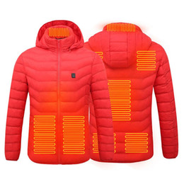 Wholesale heated jackets for sale - Group buy Ebaihui Hot Sale Heated Jackets Down Cotton Warm Winter Men Women Cothing USB Electric Heating Hooded Jacket Thermal Coat Fast Ship