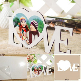 Wholesale love boards for sale - Group buy LOVE Heart Shape Picture Sublimation Blank Board Painting Wooden HDF Table Ornaments Stand Water Proof Solid Color xm L2