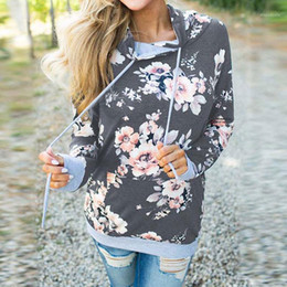 Wholesale floral hoodies for women for sale - Group buy 2020 Autumn Floral Printed Sweatshirt For Women Winter Hooded Sweatshirt Woman Long Sleeve Female Hoodies For Women1
