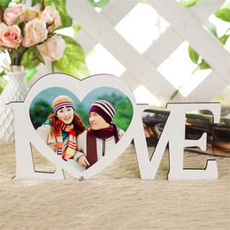 Wholesale love boards resale online - Board Picture Sublimation Blank Painting Wooden LOVE Heart HDF Ornament Stand Home Living Room White Eco Friendly xm L2
