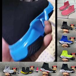 Venta al por mayor de 2020 Moda bebé niños zapatos calcetines botas niños deslizamiento casual pisos velocidad entrenador zapatillas de deporte niño muchacha zapatillas de correr alto