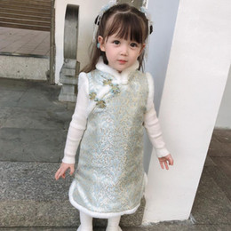 Infant Kids Girls Dress Chinese New Year Tang Suit Chinese Fashion Outfit Dress